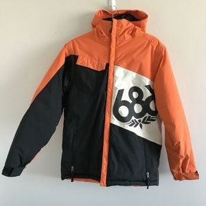 686 Orange/Ivory/Black Snowboard Jacket XL